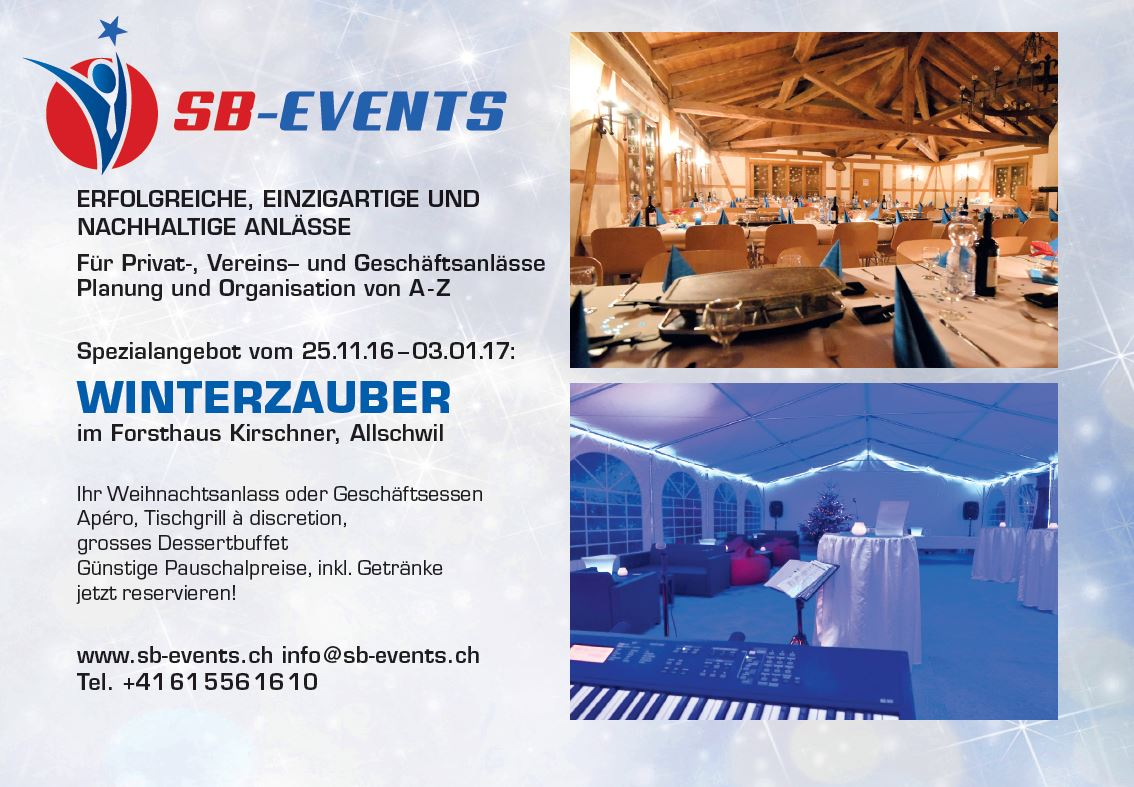 Ausverkauft am 26.11.16 @ Forsthaus Kirschner | Allschwil | Basel-Landschaft | Schweiz