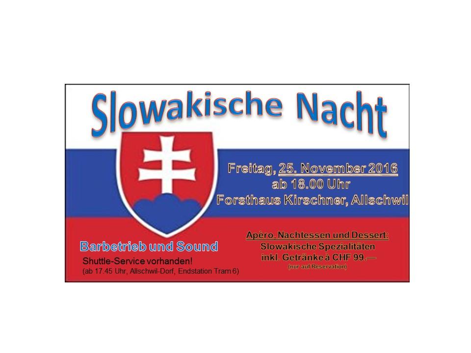 Slowakische Nacht @ Forsthaus Kirschner | Allschwil | Basel-Landschaft | Schweiz